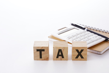 Tax calculation image Stock Photo
