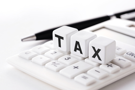 Tax calculation image Stock Photo - 98217403