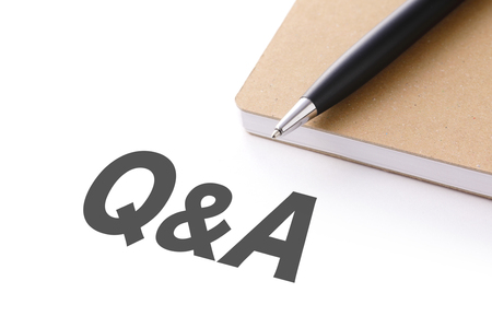 Q & A words image