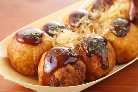 Japanese food Takoyaki 免版税图像