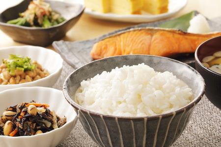 Japanese foods (Typical Japanese breakfast)