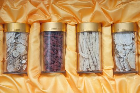 Traditional Chinese medicine present packing Stock Photo - 6359891