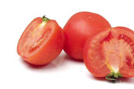 Juiciness tomato in white background
