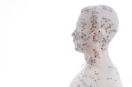 Learning acupuncture must be in such a acupuncture practice on the model Standard-Bild
