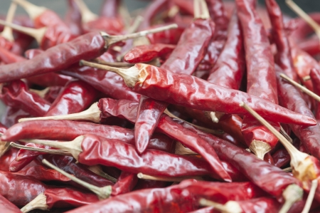 indispensable: dry red pepper is a kind of Chinese many local cuisines indispensable spices