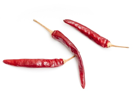 dry red pepper is a kind of Chinese many local cuisines indispensable spices