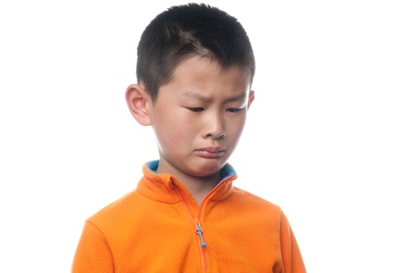 The boy's face