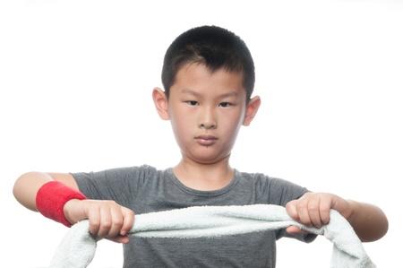 Der Junge und Bewegung