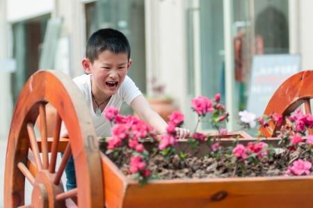 Children are happy work