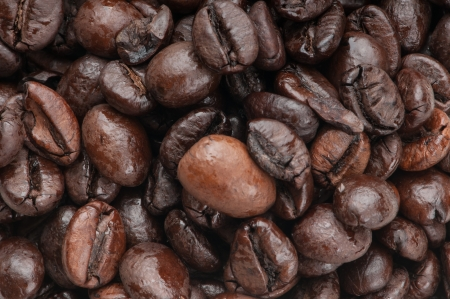 Coffee background image, close-up