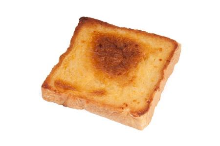 A slice of bread on a white Background  Standard-Bild