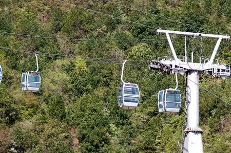 China Sichuan Xichang Luoji mountain climbing cableway