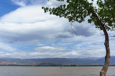 Xichang qionghai lake scenic spot in China, belongs to the early pleistocene rift lake, about 1.8 million years.