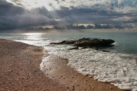 Threatening weather over the sea  Stock Photo