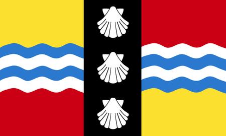 The historic flag of Bedfordshire Illustration