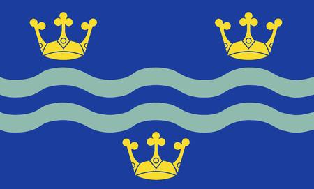 The historic flag of Cambridgeshire