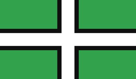 The historic flag of Devon