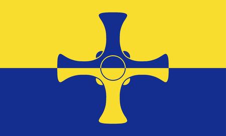 The historic flag of Durham