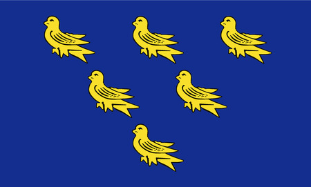 The historic flag of Sussex