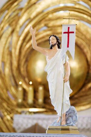 almighty: Ges� Cristo scultura in chiesa cattolica. Opole ritratto preso in Polonia.  Archivio Fotografico
