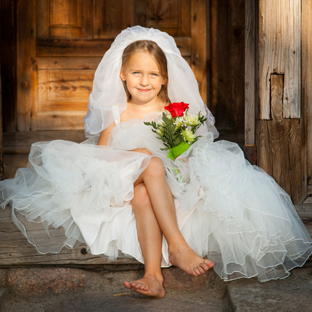 kids dress: Beautiful Young Bride