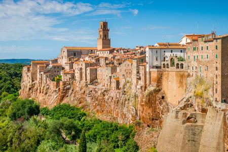 Pitigliano Tuscany Italy Reklamní fotografie