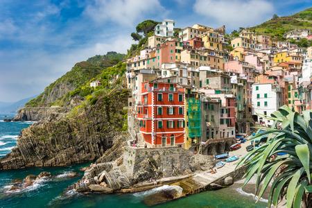 Town on the rocks Riomaggiore Liguria Italy