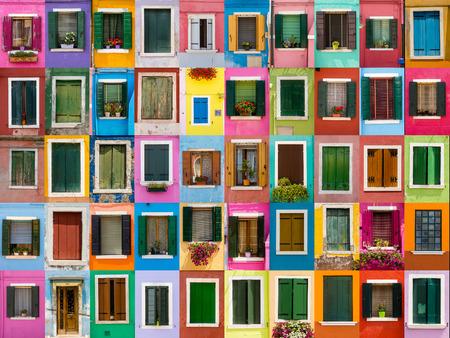 カラフルな Windows 写真素材