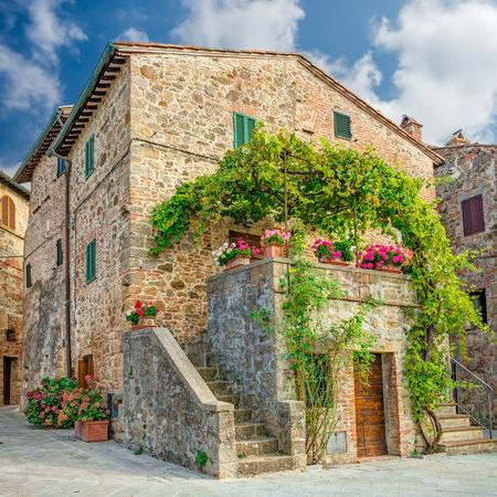 monticchiello: Old town Monticchiello Tuscany Italy