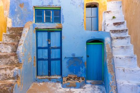 santorini greece: Architecture on the island of Santorini Greece Stock Photo