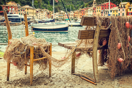liguria: Landscape Portofino Liguria Italy Stock Photo