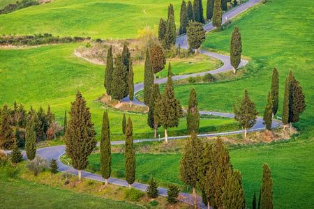 トスカーナの風景イタリア
