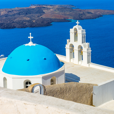 Landscape Santorini Island, Cyclades, Greece Reklamní fotografie