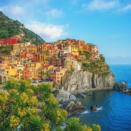 Colorful town on the rocks, Cinque Terre, Liguria, Italy