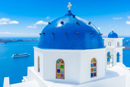 サントリーニ島、ギリシャの建物