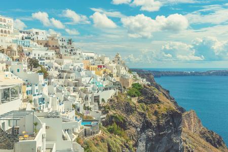 フィラ、サントリーニ島のキクラデス諸島, ギリシャ 写真素材