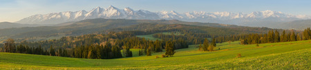 タトラ山脈の風景パノラマ
