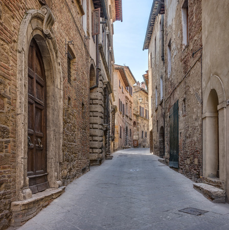 Alley in Italian old town Tuscany Italy