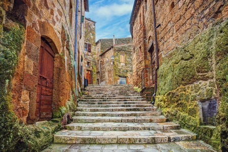 Alley in old town Pitigliano, Tuscany, Italy Reklamní fotografie