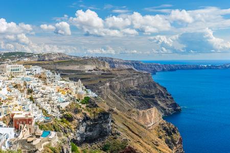 Landscape Santorini Island, Fira, Cyclades, Greece