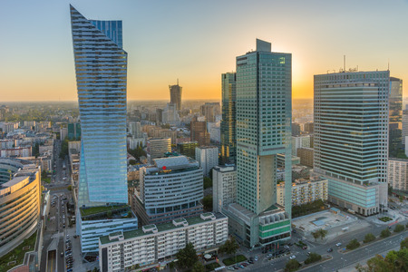 都市センターのワルシャワ、ポーランド