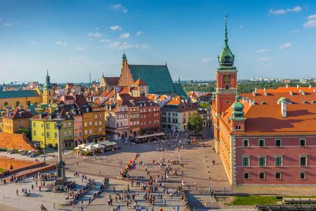 城広場、ポーランドの首都、ワルシャワ