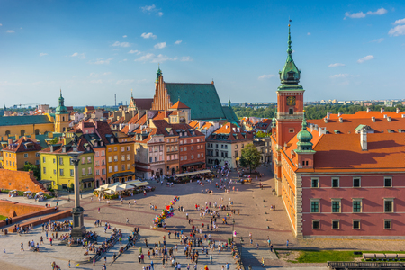 Warsaw, Castle square, Capital of Poland Imagens