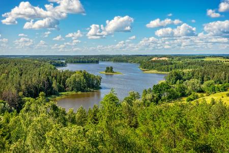 マズールィ湖水地方、風景の湖 Jedzelewo、スタレ ・ ユヒ 写真素材