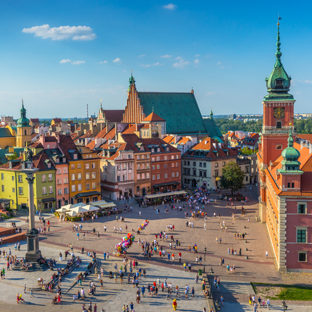 Warsaw, Castle square, Capital of Poland Reklamní fotografie