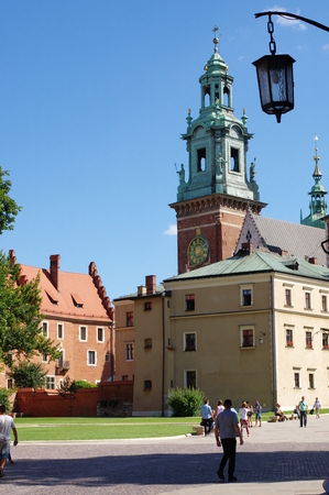 malone: Krakow, Poland, July 28, 2015. Wawel Royal Castle, the seat of Polish kings from the 12th is the 17th century. Wawel Cathedral. Editorial
