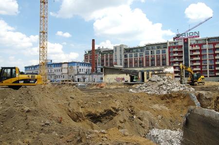 modernization: Krakow, Poland - June 04, 2016, Podgorze district, Przemyslowa street. Modernization and expansion of the old industrial area. Editorial
