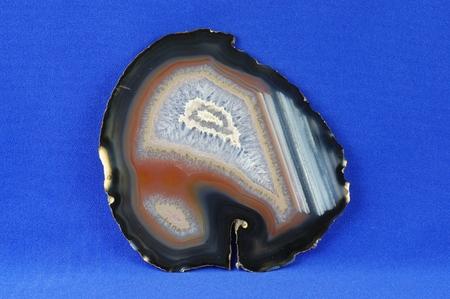 gemology: A cross section of the agate stone. Origin: Brazil.