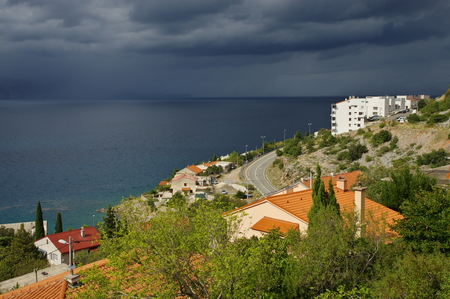 Senj, Croatia, September 16, 2016, a small town in northern Croatia, located on the Adriatic coast. Storm is coming. Editorial