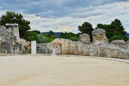 Ruins of Filippi, Greece. The city was a home in the fourth century BC by Philip II of Macedon, then the Roman colony. With the fall of Byzantium it was destroyed and abandoned. St. Paul, here is the first Christian community on the continent of Europe.